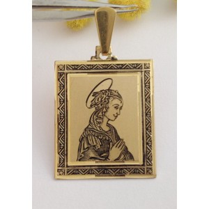 "Medaglia "" Madonna "" in oro giallo 18kt - gr. 6.52"