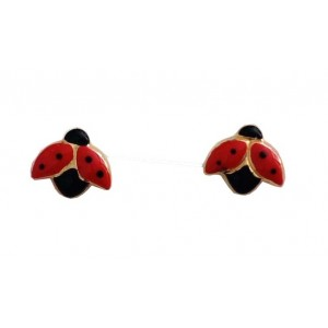 18kt Solid Gold Ladybird Earrings