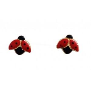 18kt Solid Gold Ladybird Earrings