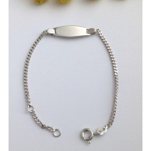 925 Sterling Silver Babies' Bracelet with Plate