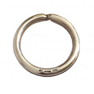 800 Solid Silver Round Key Holder