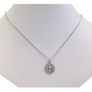 925 Sterling Silver Saint Jude Medal + Chain