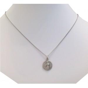 Medaglietta di San Giuda In Argento 925 con Catenina