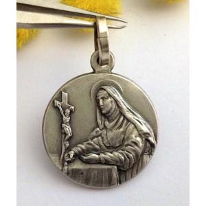 Медаль - Св. Риты из Каша - из серебра 925