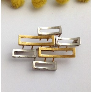 14kt Solid Yellow & White Gold Brooch- gr. 6.60