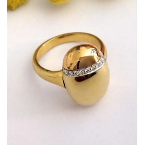 18kt Two tones Gold Diamonds Ring