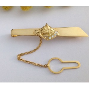 18kt Solid Yellow Gold Tie Bar