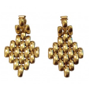 18kt Solid Yellow Gold Pendant Earrings - gr. 13.96