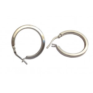 925 Sterling Silver Round Earrings