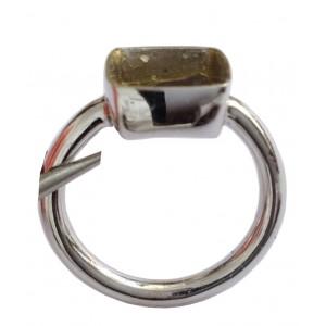 18k Solid White Gold Frame Ring- gr. 5.48