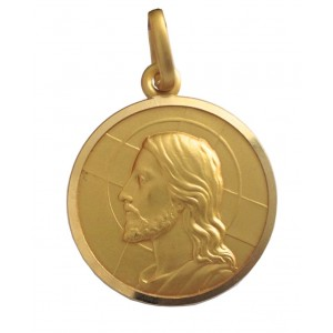18kt Solid Yellow Gold Jesus Medal