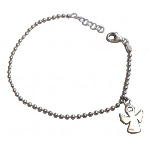 925 Sterling Silver Baby Bracelet with Angel