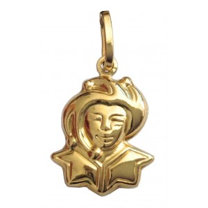 "18kt Solid Yellow Gold "" Jolly "" Pendant - gr. 1.56"