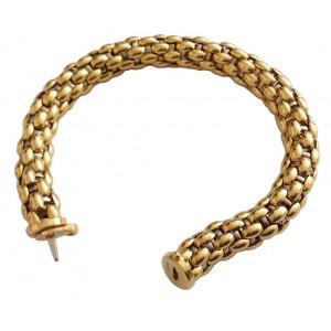 18lkt Solid Yelow and White Gold Tubular Bracelet- gr. 41.36