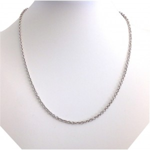 18kt Solid White Gold Unisex Chain - gr 15.06