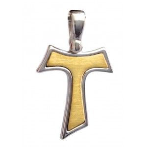 Croce Tao In Argento Massiccio 925