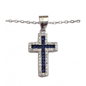 925 Sterling Silver Necklace with Cross