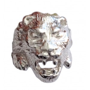 925 Sterling Silver Lion's Head Ring
