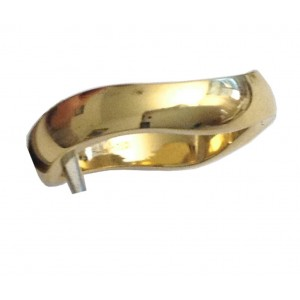 18kt Solid Yellow Gold Wedding Ring - gr. 6,34