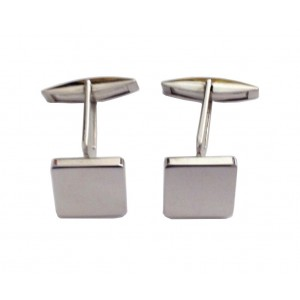 925 Sterling Siver Square Cufflinks