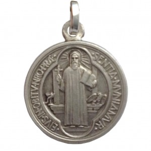 925 Sterling Silver Saint Benedict Medal