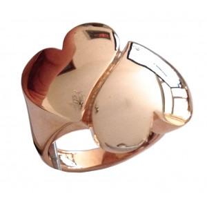 Anello a 2 Cuori In Oro Rosa 18kt - gr. 6.47