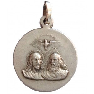 """925 Sterling Silver """" The Holy Trinity """" Medal"""