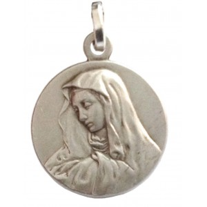"925 Sterling Silver "" Our Lady of Sorrow "" Medal"