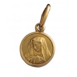 Medaglietta Madonna Addolorata In Oro 18kt gr. 0.65