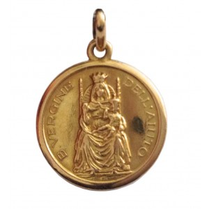 18kt Solid Gold Our Lady of Help Medal - gr.2.19