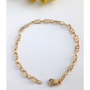 18kt Solid Yellow Gold Link Bracelet