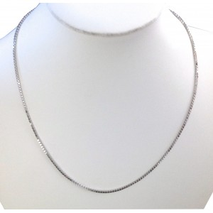 18kt Solid White Gold Venetian Chain - gr. 11.24