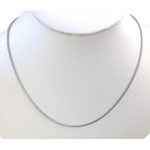 Catenina Tubolare In Oro Bianco 18kt - gr. 8.36