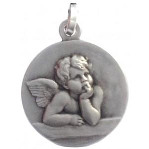 925 Sterling Silver Saint Angel Medal
