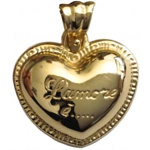 18kt Solid Gold Heart Pendant gr. 2.95