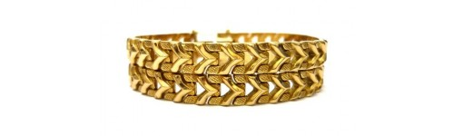 Ladies' gold bracelets