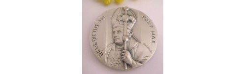 Medaillons The Popes - Brass Silver Plated