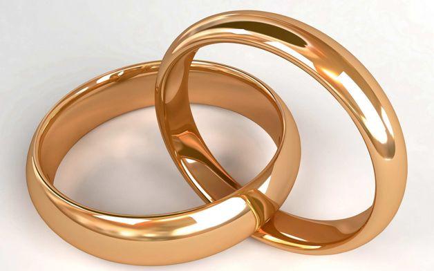 Свадебные кольца для открыток
